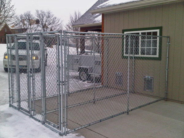 A Backyard Kennel Home Sweet Home